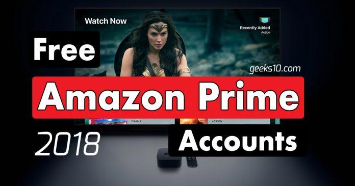 Free Amazon Premium Prime Accounts 2018 (100% Working)
