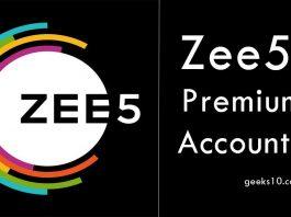 Free Zee5 Premium Accounts and Passwords 2019