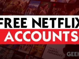 Free Netflix Premium Accounts & Passwords 2020